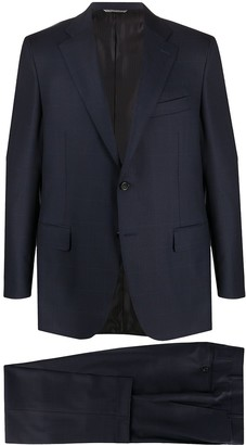 Canali Windowpane Check Suit