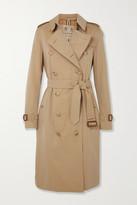 Burberry The Kensington Long Cotton-gabardine Trench Coat - Beige