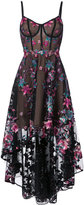 Marchesa floral embroidered high-low dress - women - Nylon - 0