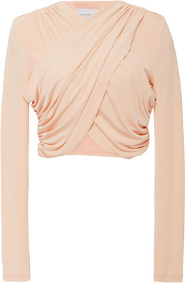 Significant Other Arta Twist-Detail Wrap Crop Top