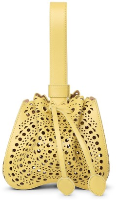 Alaia Rose Marie 16 yellow bracelet bag
