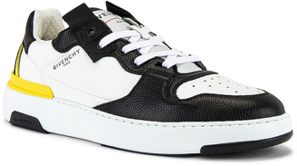 Givenchy Wing Sneaker Low in Black & White & Yellow   FWRD