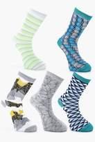 Boohoo 5 Pack Design Socks
