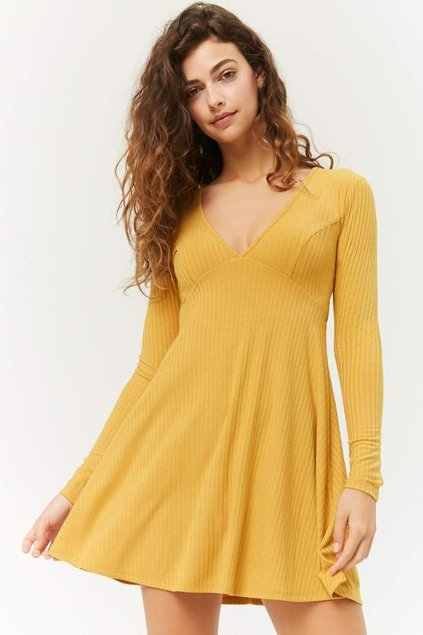 Forever 21 Ribbed Skater Dress