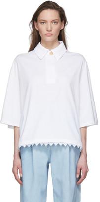 Loewe White Lace Trim Polo