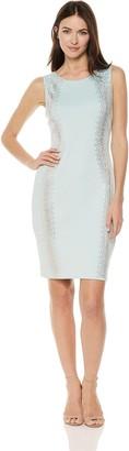 Calvin Klein Women's Sleeveless Scuba Sheath with Embellishment Dress