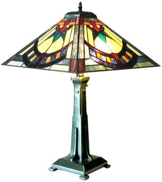 Chloe Lighting LOGAN Mission 2-Light Antique Dark Bronze Table Lamp 16