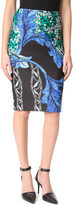 Yigal Azrouel Printed Scuba Skirt
