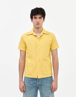 Levi's Men's Denim Short Sleeve Shirt in Cornsilk, Size Small | 100% Cotton