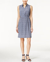 Alfani Textured A-Line Shirtdress, Only at Macy's