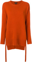 Theory split oversized crew neck sweater - women - Cashmere - S