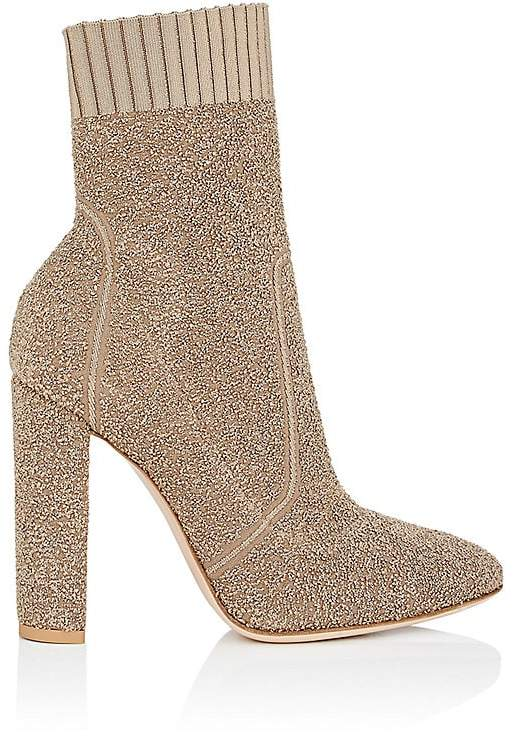 Gianvito Rossi Women's Isa Bouclé-Knit Ankle Boots