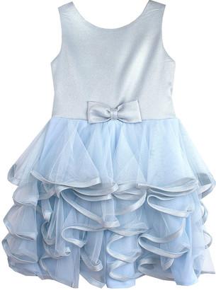 Biscotti Girls' Special Occasion Dresses BLUE - Blue Iridescent Metallic A-Line Dress - Toddler