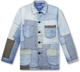 Blue Blue Japan Yuki Fubuki Embroidered Patchwork Denim Jacket