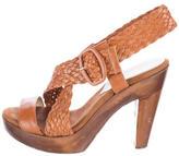 Loeffler Randall Braided Leather Sandals