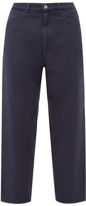 Barena Mezorio Cropped Cotton Trousers - Blue