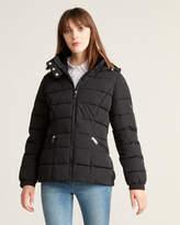 Calvin Klein Faux Fur-Lined Hooded Short Puffer Coat