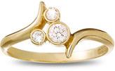 Disney Diamond Mickey Mouse Icon Bypass Ring - 18K Yellow Gold