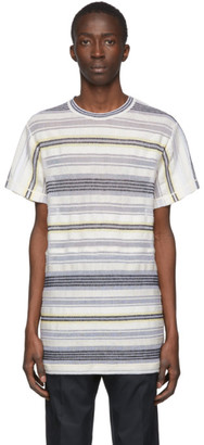 Jil Sander Multicolor Striped Mesh T-Shirt
