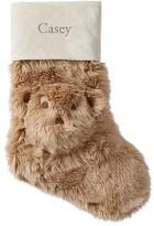 Pottery Barn Kids Teddy Bear Faux Fur Stocking