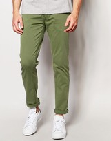 Minimum Slim Chino In Stretch Cotton In Green