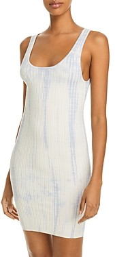 Aqua Tie Dyed Ribbed Tank Dress - 100% Exclusive