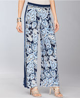 INC International Concepts Pants, Wide-Leg Printed Pull-On