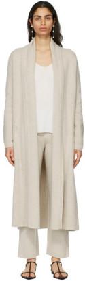 Le Kasha Beige Cashmere Italy Long Cardigan