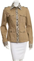 Dolce & Gabbana Snakeskin-Accented Casual Jacket w/ Tags