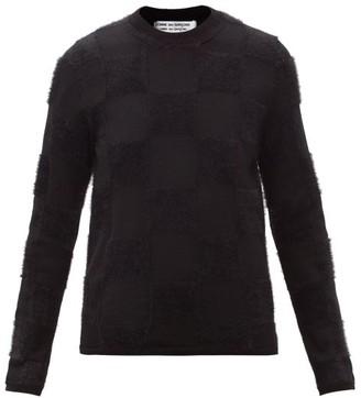Comme des Garçons Comme des Garçons Checked Wool-blend Sweater - Black