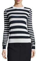 Joseph Striped Cashmere Long-Sleeve Top