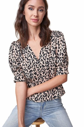 Sugar Lips Sugarlips Women's Cale Leopard Peplum Top X-Small
