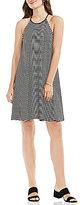 Vince Camuto Simple Stripe Halter Dress