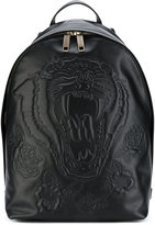 Etro tiger embossed backpack - men - Leather - One Size