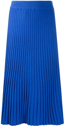 N.Peal Ribbed Knit Skirt