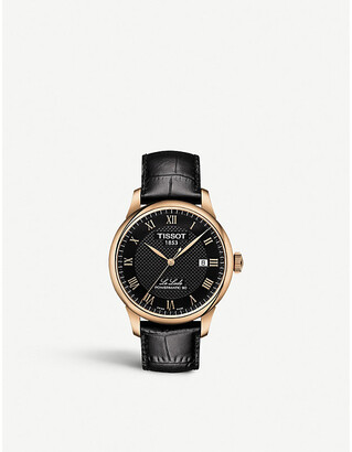 Tissot Women's Gold and Black T006.407.36.053.00 Le Locle Gold-Plated Watch