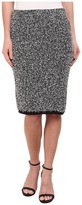Calvin Klein Contrast Eyelash Midi Skirt