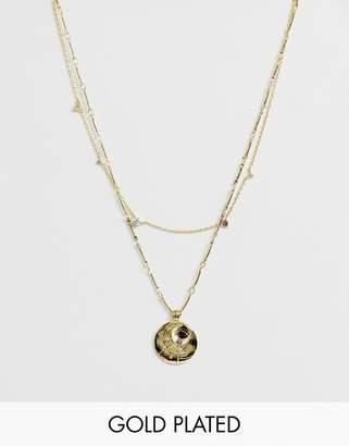 Wanderlust + Co Wanderlust & Co June Birthstone Gold Necklace