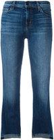J Brand Step Hem cropped jeans - women - Cotton/Polyurethane - 27