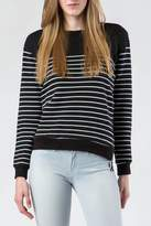 Splendid Striped Side Zip Sweatshirt