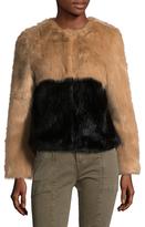 The Outlaw Colorblock Faux Fur Coat