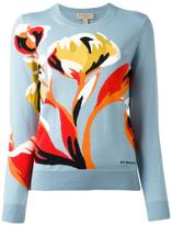 Burberry flower intarsia jumper - women - Merino - XL