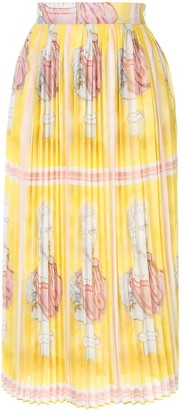 Tata-Naka Pleated Printed Skirt