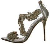 Oscar de la Renta Ambria Bead-Embellished Sandals w/ Tags