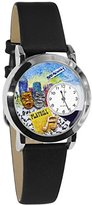 Whimsical Watches Women's S0420003 Drama Theater Black Leather Watch