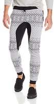Southpole Men's Jogger Pants Fleece with Nordic Mono Patterns and Drop Crotch