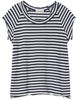 Nili Lotan Sailor Stripe Short Sleeve Baseball Tee