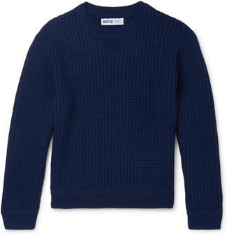 AFFIX Waffle-Knit Merino Wool Sweater