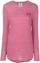 Zoe Karssen embroidered stripe T-shirt