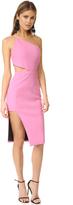 Michelle Mason Asymmetrical Bandeau Dress